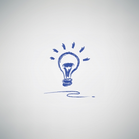 light bulb drawing,vector Stock Vector - 19908262