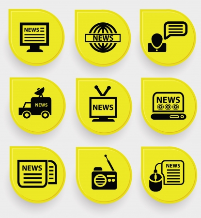 News icons Stock Vector - 19908178