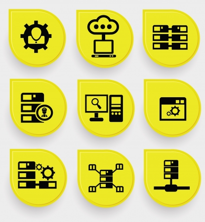 Data system icons Vector
