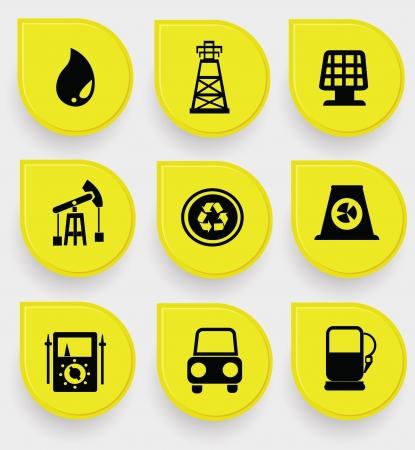 Energy icons Stock Vector - 19908162