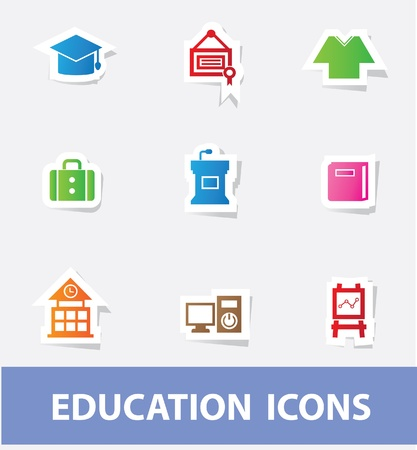 Education icons Stock Vector - 19908138