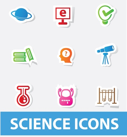 separating funnel: Science icons Illustration