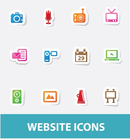 Technology icons Stock Vector - 19908165