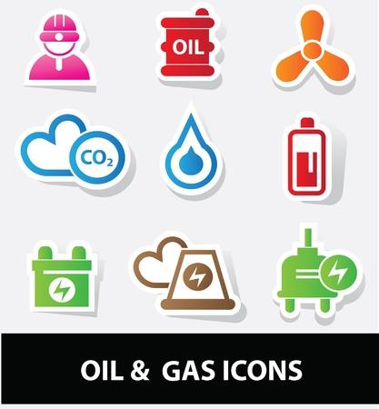 iconos energ�a: Los iconos de la energ?