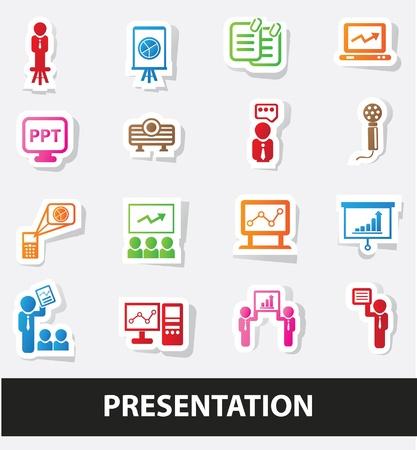 Presentation icons Vector