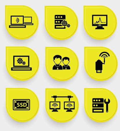 Computer system icons Stock Vector - 19973077