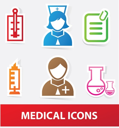 Medical icons Stock Vector - 19973069