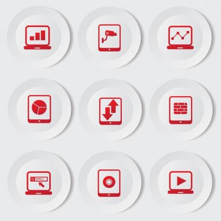 wifi access: Tablet pc e l'icona del telefono cellulare