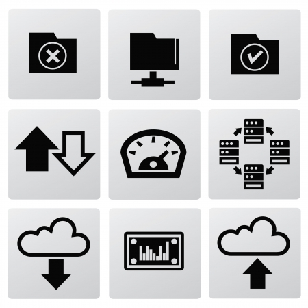 File sharing icons Vector