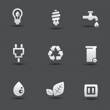 Nature and energy icons