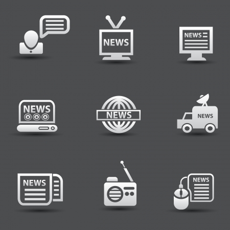News icons Stock Vector - 19973047