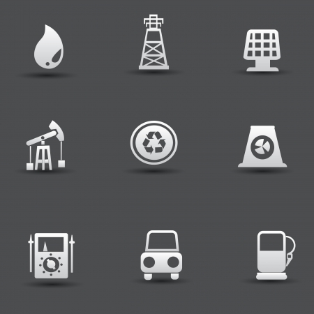 Energy and power icons Stock Vector - 19969408