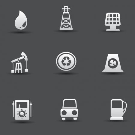 nuke plant: Iconos de la energ?y el poder