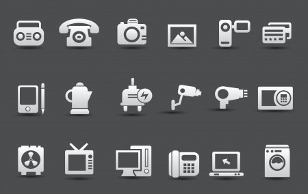 Electronic device icons Vector