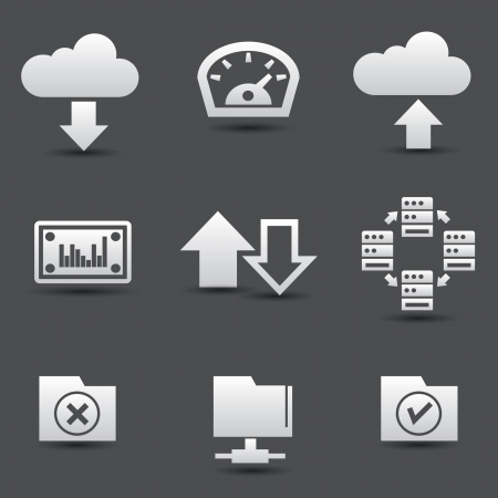 option key: Sharing computer and data store icons