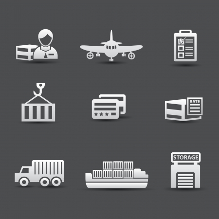 Logistics and transport universal icons Vector