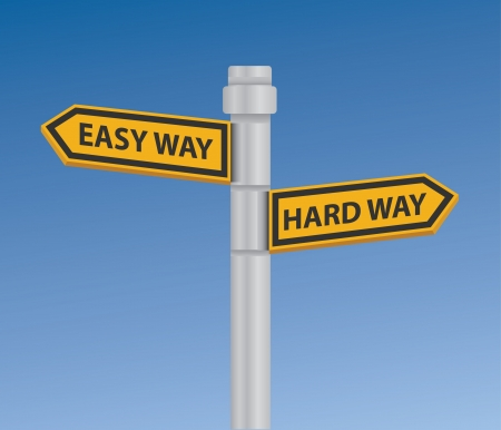 hard way: Easy way   hard way signpost