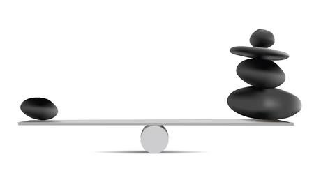 balanza en equilibrio: Piedras de equilibrio