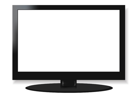 LCD screen television Stock Vector - 19973099