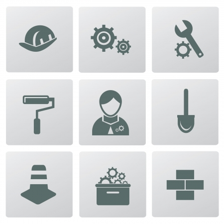 Construction symbol icons Vector