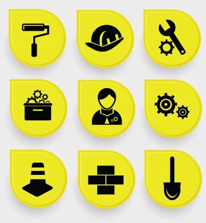 Construction symbol icons Stock Vector - 19973078