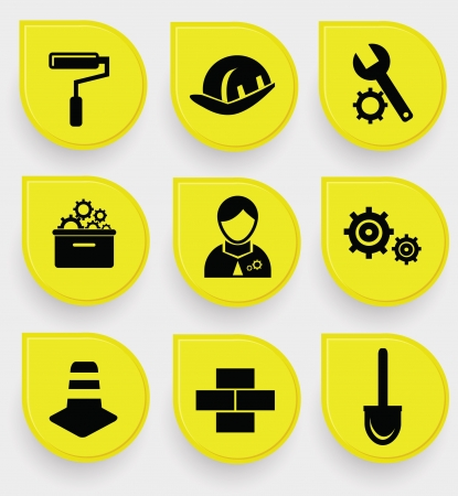Construction symbol icons Stock Vector - 19973078