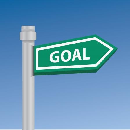 Goal signpost Vector Illustration