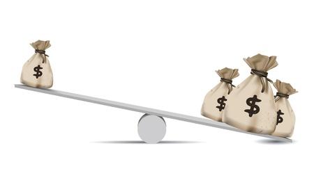 balanza en equilibrio: Dinero, Balance de la escala, el concepto de Finanzas