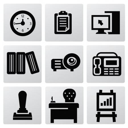 poise: Office icons Illustration
