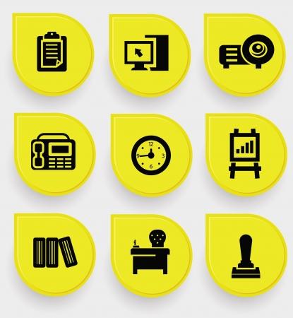 copy machine: Office icons Illustration