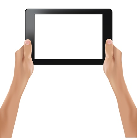 Tablet computer on white background Stock Vector - 19973195