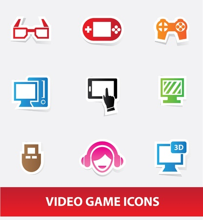 Video game icons Stock Vector - 20098926