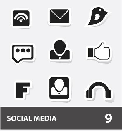 thumps up: Social media   Web icons