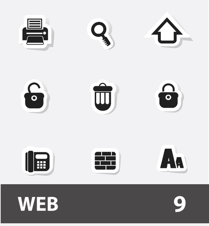 Web icons Stock Vector - 20130792