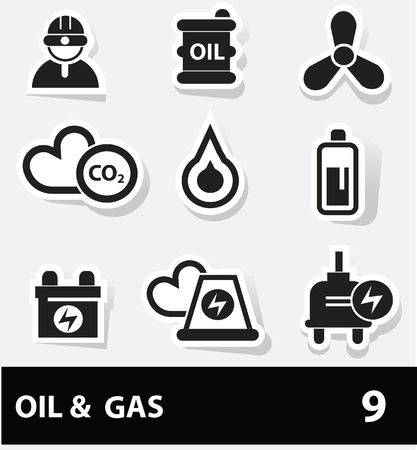 Energy and power icons Illustration