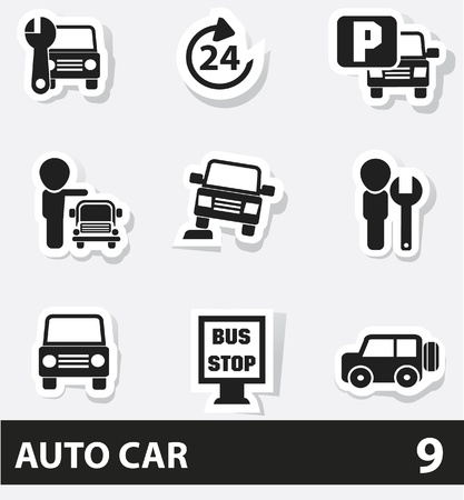 Car service icons Stock Vector - 20130822