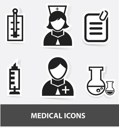 iv: Medical icons Illustration