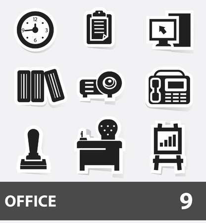 Office icons,vector Stock Vector - 20088018