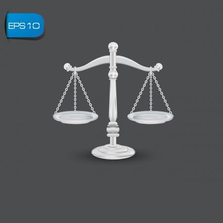 estatua de la justicia: balanza de la justicia Vectores