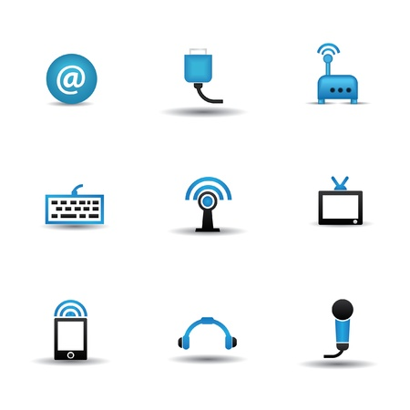 Technology icons Stock Vector - 20130827