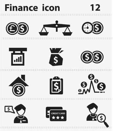 Business finance concept icons Ilustração Vetorial
