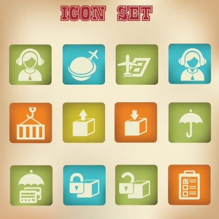 People vintage icons Vector
