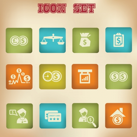 Money vintage icons Vector