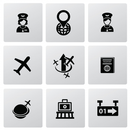 Airport icons Stock Vector - 20087073