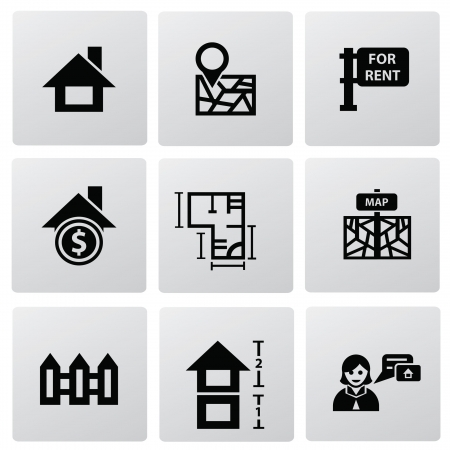 Houses icons set  Real estate Stock Vector - 20087086