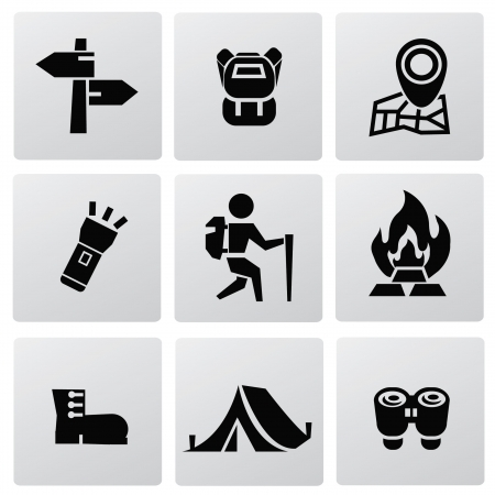 Camping icons Stock Vector - 20087052