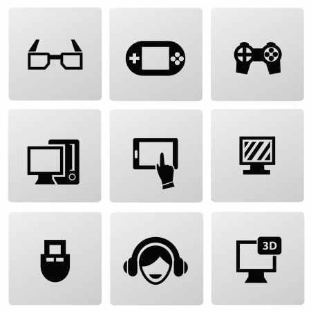 personal data assistant: Video game icon set