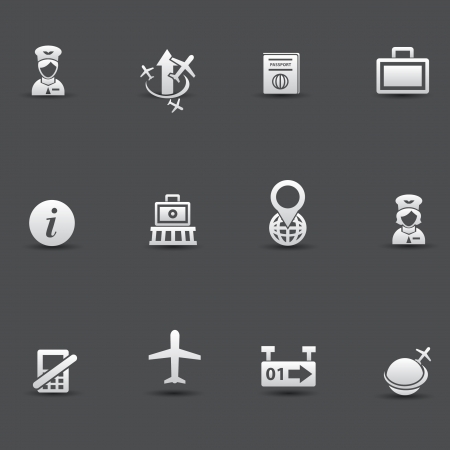 airport security: Airport icons Illustration