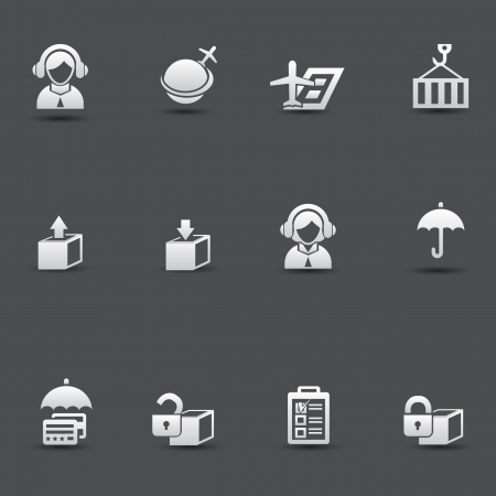 weighted: Logistic   transport icons Illustration