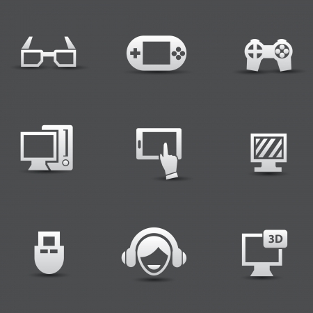 Game icons Stock Vector - 20087072